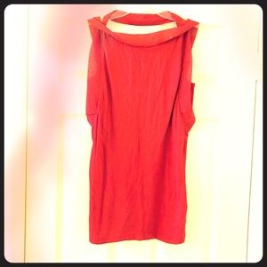 French Connection Tunic Top, Red, Draped Details